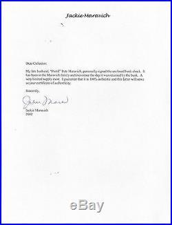 Pistol Pete Maravich Psa/dna Handwritten Signed 1983 Check Autographed Rare