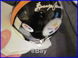 Pittsburgh Steelers Terry Bradshaw Auto Autograph Mini Helmet PSA DNA Authentic