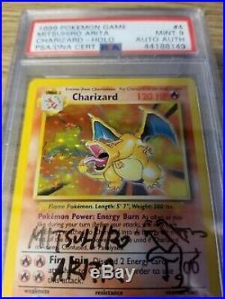 Pokemon Base Set Charizard Holo PSA/DNA Mitsuhiro Arita Autograph Auto PSA 9