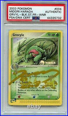 Pokemon PSA/ DNA Midori Harada Signed Autographed Grovyle (see desc)