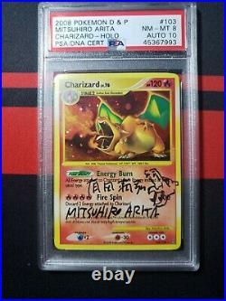 Pokemon Stormfront Charizard Evo Line Mitsuhiro Arita Autographed&sketch PSA/DNA