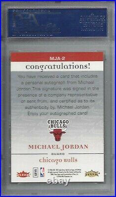 Pop 3 2006 Fleer Autographics AUTO #MJA-2 Michael JORDAN PSA 10+++ HOF Bulls