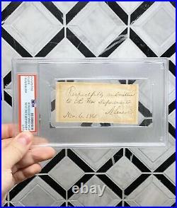 President ABRAHAM LINCOLN Signed Endorsement PSA/DNA Dated J. Davis Election Day
