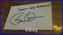 President Barack Obama Signed Inscribed Cut PSA DNA Full LOA Dream Big Dreams