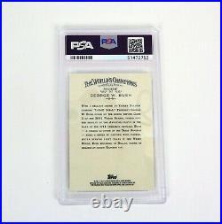 President George W Bush Signed Auto 2011 Topps Allen & Ginter Mint PSA/DNA COA