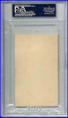 President Grover Cleveland Signed Ex. Mansion Card Psa/dna #84049085 Encap