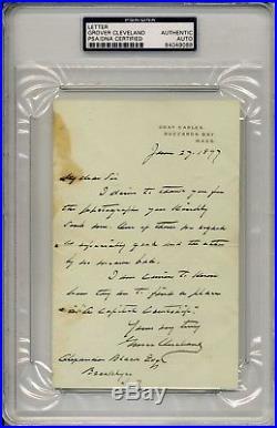 President Grover Cleveland Signed Letter Psa/dna #84049088 Encapulated