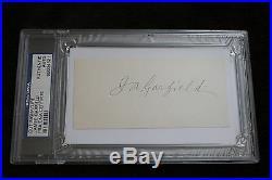 President James Garfield Signature Autograph Auto Psa/dna Authentic