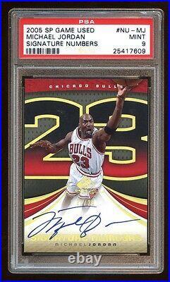 Psa 9 Michael Jordan 2005 Sp Game Used Gold Signature #23/23 Iconic Card Hof Wow