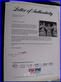 Psa Dna Ted Williams Mantle Joe Dimaggio Signed 8 X 10 Photo Triple Autograph