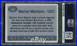 Psa/dna 1955 Topps All-american John Wayne Usc Autographed Cut Signature Card