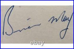 Queen Freddie Mercury Authentic Signed 1975 Full Set Of Signatures Comes With PSA