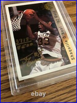 RARE! 1992 Classic Draft Picks Gold Shaquille O'Neal Signed Auto RC PSA / DNA