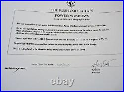 RUSH Band Signed Lithograph Poster All 3 400 of 500 Power Windows PSA Guarantee