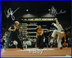 Ralph Macchio & William Zabka Autographed Karate Kid 16x20 Photo 19088 Psa/dna