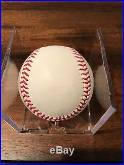 Randy Johnson Autographed Baseball ROMLB HOF 2015 P. G. Perfect Game PSA/DNA