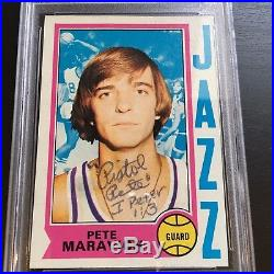 Rare 1974 Topps Pistol Pete Maravich Signed Card 1/1 Only One On Earth! PSA DNA