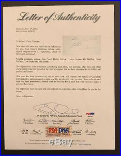 Rare Ritchie Valens, Eddie Cochran, more Signed Autographed'58 Program PSA/DNA