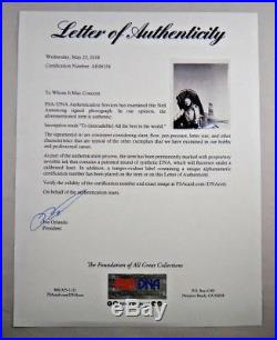 Rare Vintage Neil Armstrong Signed X-15 NASA 8x10 Photo Full PSA/DNA Letter