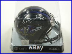 Ray Lewis #52 Psa/dna Signed Baltimore Ravens Mini Helmet Certified Autograph