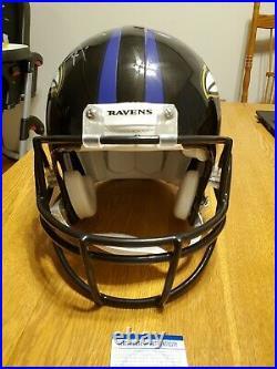 Ray Lewis 52 autographed PROLINE AUTHENTIC FS full size helmet ravens PSA DNA