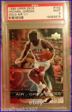 Real 1/1 1999-2000 Michael Jordan Upper Deck Gold Psa Graded 9 Mint No Auto