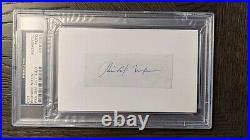 Richard Nixon 37th US President Signed Cut Signature PSA/DNA Autograph Auto