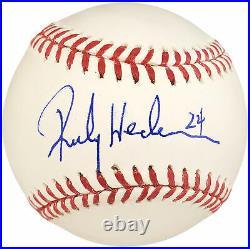 Rickey Henderson Autographed Mlb Baseball Yankees, A's #24 Psa/dna 107002