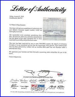 Roberto Clemente Signed Autographed Expense Voucher PSA/DNA RARE Pirates