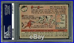 Roger Maris Autographed 1958 Topps Rookie Card Yankees Mint 9 PSA/DNA 27393341