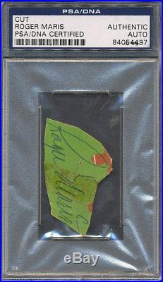 Roger Maris Cut Signature PSA/DNA Certified Authentic Auto Autograph 4497