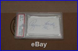 Rogers Hornsby Cut Autograph Psa/dna Certified