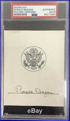 Ronald Reagan Signed Cut Signature PSA/DNA President Autograph Pop Up Sale GOP