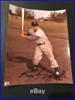 Roy Campanella (d. 1993) HOF Brooklyn Dodgers Autograph 8x10 Signed Photo PSA/DNA