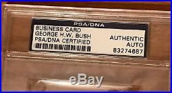 SALE George H W Bush Signed Cut PSA/DNA Slab US President Bold Auto HW RARE