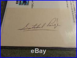 SATCHEL PAIGE SIGNED 3X5 INDEX CARD PSA DNA LOA Auto Autograph Negro Leagues