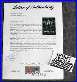 SDCC 2017 Comic-Con HBO Westworld Cast Signed Autographed Poster with PSA DNA COA