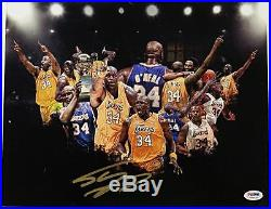 SHAQUILLE O'NEAL Signed 11x14 Photo LAKERS HOF Shaq Autograph with PSA/DNA COA