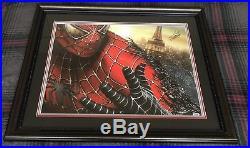 STAN LEE SIGNED 25x31 CUSTOM FRAMED SPIDER MAN PHOTO PSA/DNA AUTOGRAPHED