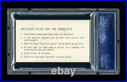 Satchel Paige Business Card Psa/dna Slabbed Autographed Hof Negro Leagues