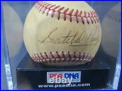 Satchel Paige Cleveland Indians signed autographed baseball PSA DNA 7 GRADED