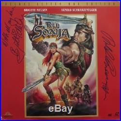 Schwarzenegger/Nielsen Signed Red Sonja Autographed Laser Disc PSA/DNA #Z06266