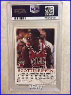Scottie Pippen 1997 Fleer Skybox Autographics Auto Psa/dna 10 Gem Mint Pop 1/2