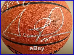Scottie Pippen & Dennis Rodman Autographed Official Basketball PSA/DNA Certified