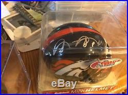 Shannon Sharpe Autographed Denver Broncos mini helmet PSA/DNA Authenticated