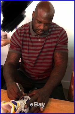 Shaquille O'neal Autograph Shoe Reebok Shaq Attaq Lsu Lakers Auto Psa/dna Coa