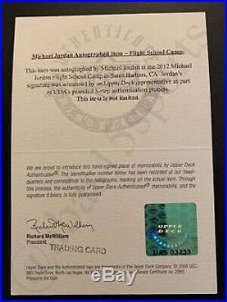 Signed 1985 Nike Michael Jordan Rookie Card Uda Autograph Rc Auto Psadna Jumpman