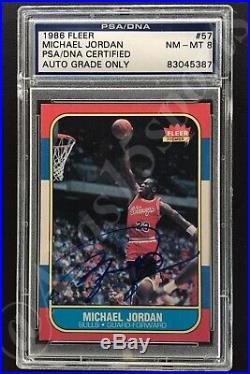 Signed 1986/87 Fleer 57 Michael Jordan Real Autograph True Rookie Card Rc Psadna