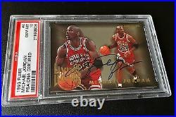 Signed 1993-94 Fleer Living Legends Michael Jordan Psa 10 Psa/dna Uda Auto Pop 1