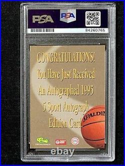 Signed 1995-96 Classic Rasheed Wallace Rookie Card Psa/dna Auto Rc Unc Tarheels